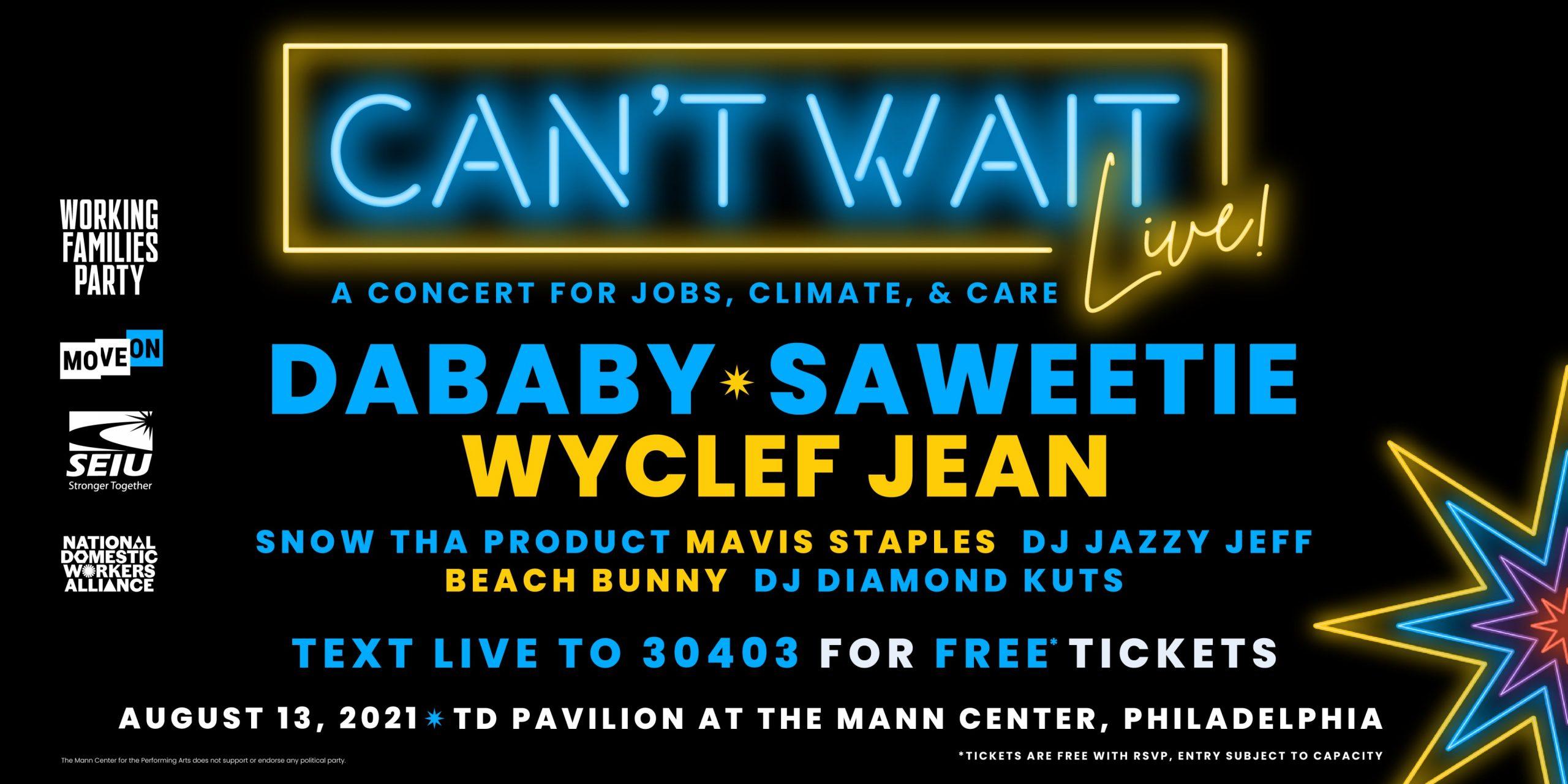 Can't Wait Live sponsored by Patriotic Millionaires